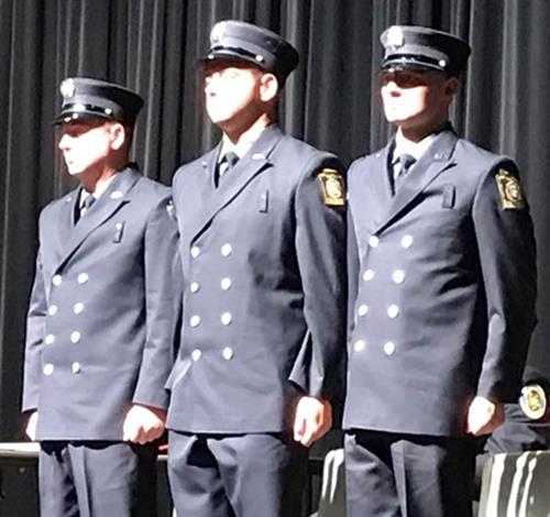 City Welcomes Three New Firefighters