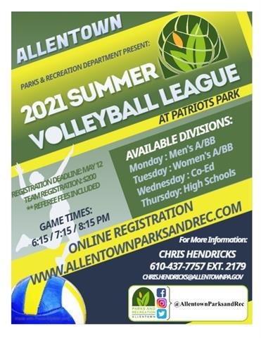 Summer Volleyball Registration Open