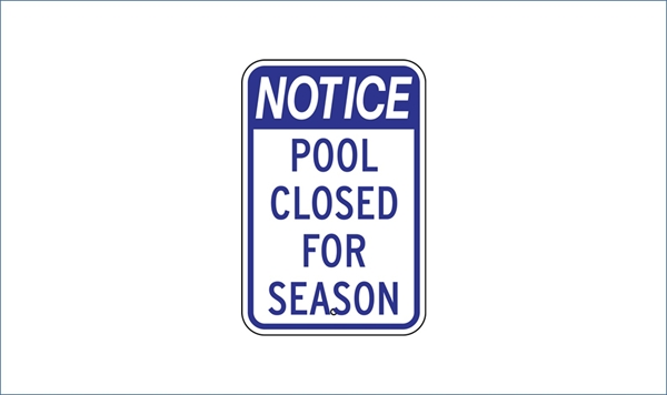 Pools and Spray Parks Closing Dates