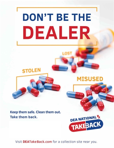 October 26 is Drug Take Back Day