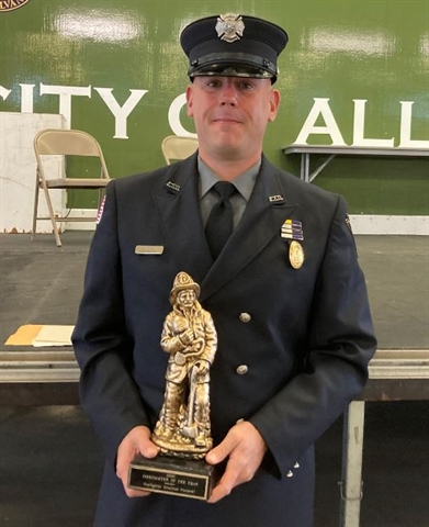 Hammel Named Firefighter of the Year