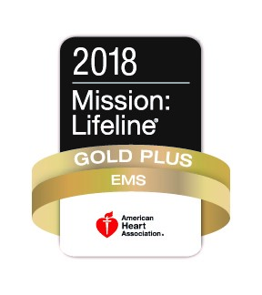 2018 Mission Lifeline Gold Plus EMS American Heart Association.