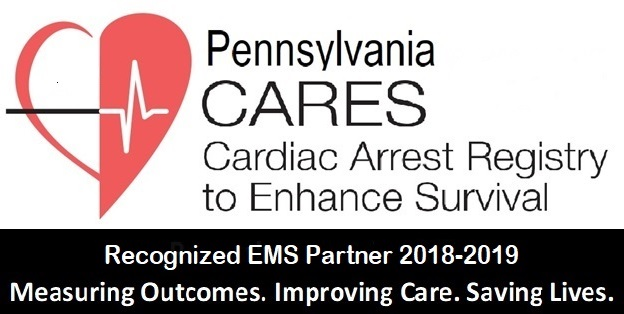 Pennsylvania Cares Cardiac Arrest Registry to Enhance Survival. Recognized EMS Partner 2018-2019. Measuring Outcomes. Improving Care. Saving Lives.