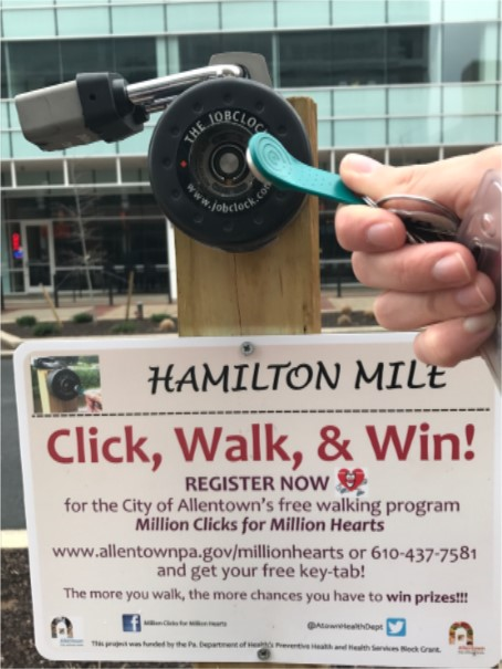Click Walk & Win sign and click station.