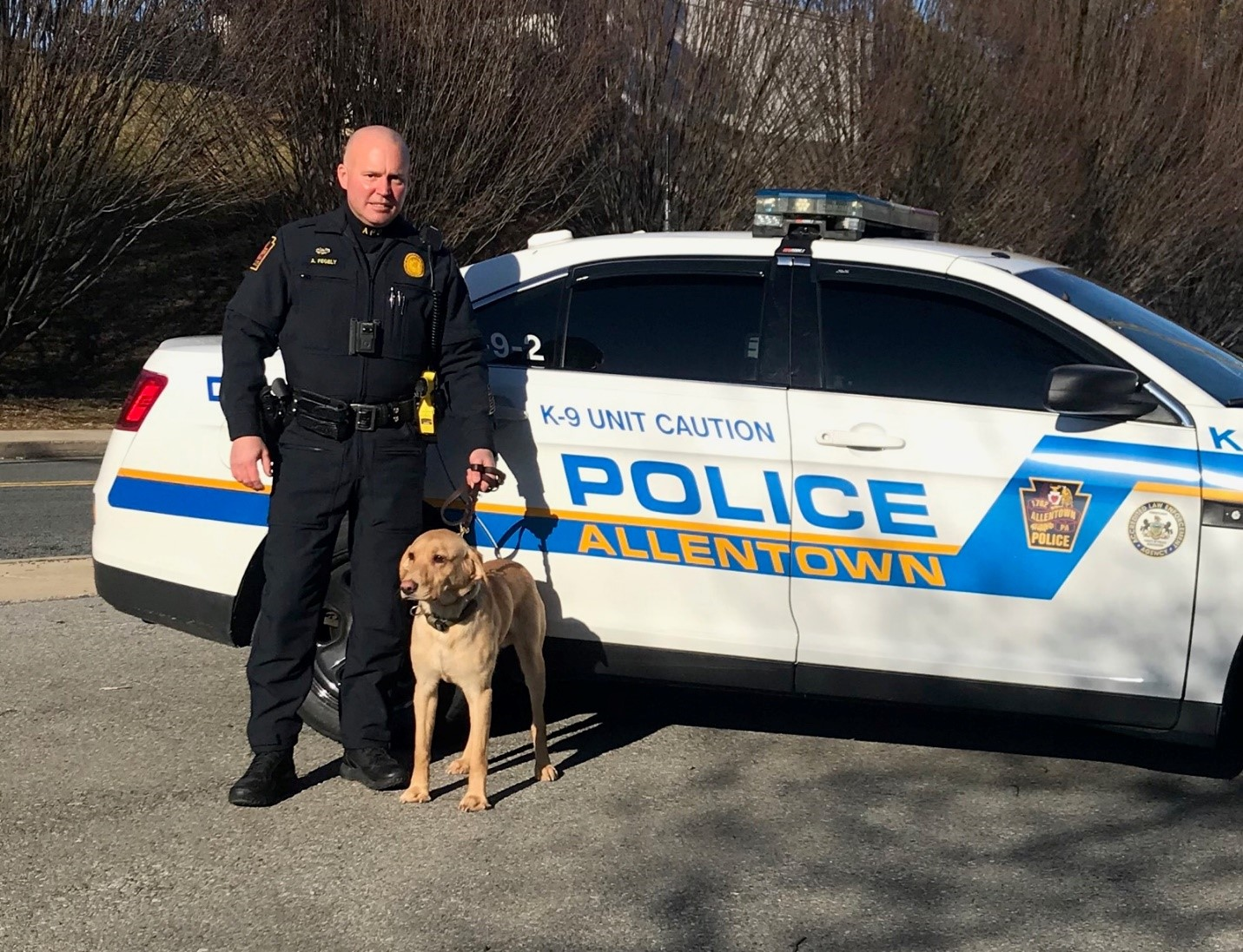 Officer Fegley and K9 Jax