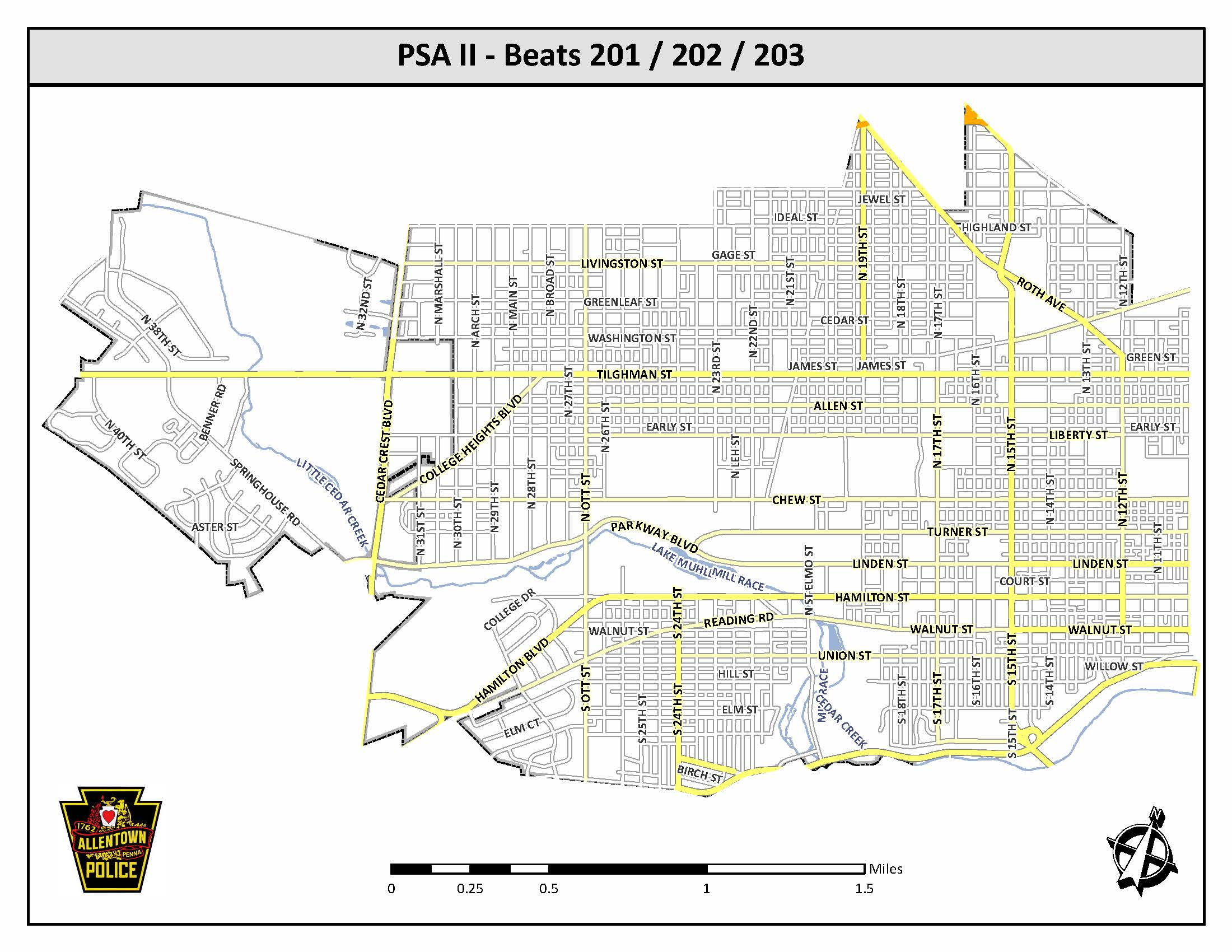 Click here to load the Police Service Area II Beats 201, 202, and 203 pdf.