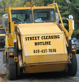 Street Cleaning Hotline 610-437-7636